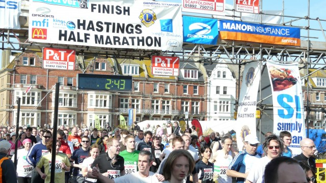 The start of the Half: picture courtesy of Hastings Half Marathon